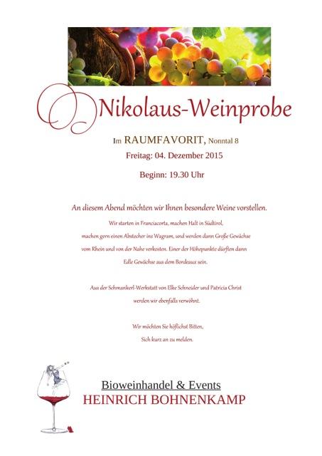 Nikolaus Weinprobe 04.12